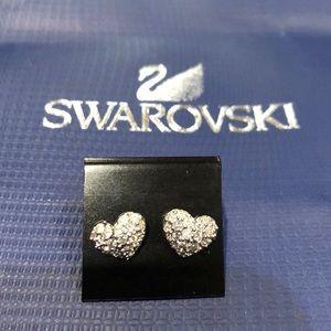 Swarovski.925 Crystal heart earrings